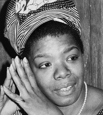 ca. 1970, San Francisco, California, USA --- San Francisco: Poet Maya Angelou shown in photo from files dated 1970. --- Image by © Bettmann/CORBIS